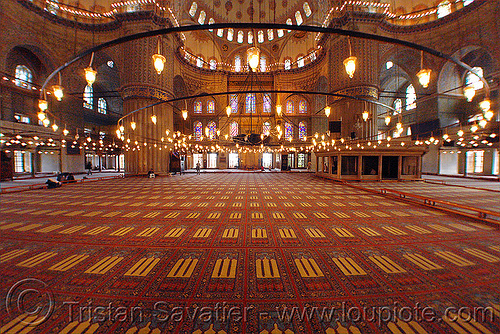 blue mosque - interior, architecture, blue mosque, carpet, fisheye, inside, interior, islam, istanbul, religion, sultanahmet