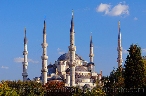 blue mosque, architecture, blue mosque, islam, istanbul, minarets, religion, sultanahmet, towers