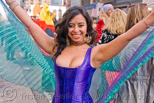 bollywood performer - how weird street faire (san francisco), blue, bollywood, corset, how weird festival, performer, woman