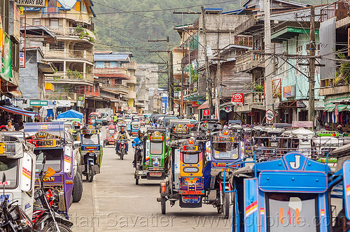 bontoc - motorized tricycles (philippines), bontoc, colorful, motorcycles, motorized tricycle, philippines, sidecar