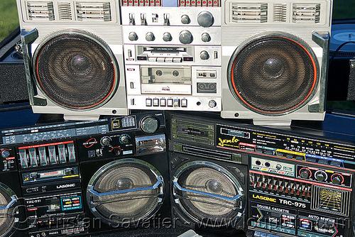 boomboxes, boomboxes, dj, dolores park, ghettoblasters, lasonic, metri, radio, stereo