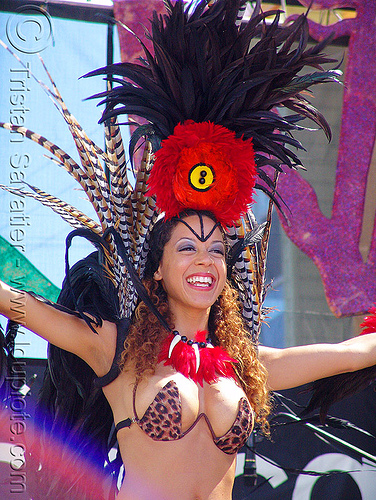 brazil carnival costume - feathers - girl - micaela, brazilian, carnaval, carnival costume, micaela, samba, san francisco carnival, woman