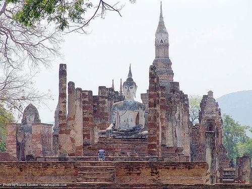พระพุทธรูป - buddha statue in temple ruin - อุทยาน ประวัติศาสตร์ สุโขทัย - เมือง เก่า สุโขทัย - sukhothai - thailand, buddha image, buddha statue, buddhism, buddhist temple, cross-legged, ruins, sculpture, sukhothai, wat mahathat, ประเทศไทย, พระพุทธรูป, อุทยาน ประวัติศาสตร์ สุโขทัย, เมือง เก่า สุโขทัย