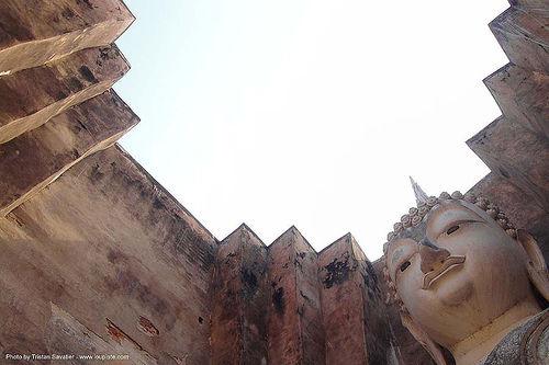 พระพุทธรูป - buddha statue - วัดศรีชุม - wat si chum - อุทยาน ประวัติศาสตร์ สุโขทัย - เมือง เก่า สุโขทัย - sukhothai - thailand, buddha image, buddhism, buddhist temple, giant buddha, sculpture, ประเทศไทย, พระพุทธรูป, วัดศรีชุม, สุโขทัย, อุทยาน ประวัติศาสตร์ สุโขทัย, เมือง เก่า สุโขทัย