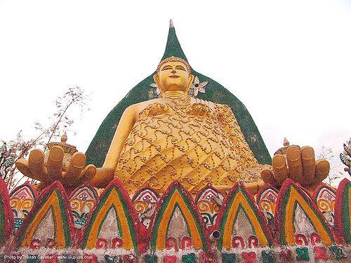 พระพุทธรูป - buddha statue - wat somdet - สังขละบุรี - sangklaburi - thailand, buddha image, buddha statue, buddhism, buddhist temple, cross-legged, golden color, sangklaburi, sculpture, wat somdet, ประเทศไทย, พระพุทธรูป, สังขละบุรี
