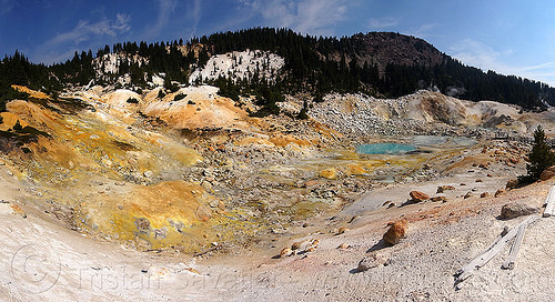 bumpass hell - lassen volcanic national park, bumpass hell, geothermal, hot springs, lassen volcanic national park, mountain, pool, water