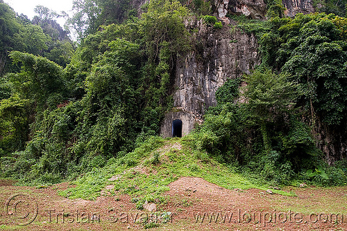 bunker door (laos), bunker, caving, door, military, natural cave, spelunking, viang xai, vietnam war