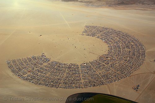 burning man aerial - black rock city, aerial photo, black rock city, burning man, burning sky, cityscape, skydiving, urban development, urban planning