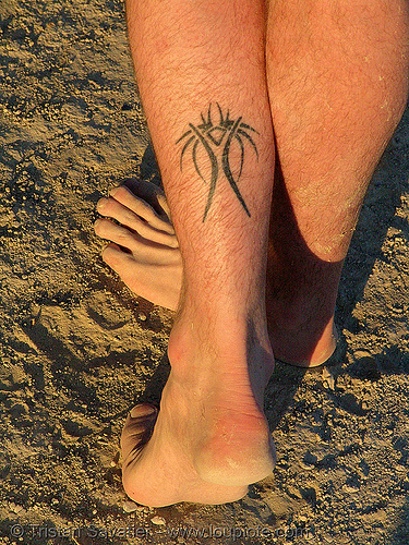 Burning Woman Tattoo - This tattoo is a reference to the burning man
