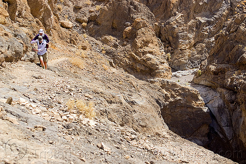 bypass trail in grotto canyon, bypass, dana, death valley, desert, grotto canyon, lauren, mountain, rock, slot canyon, stone, trail, women