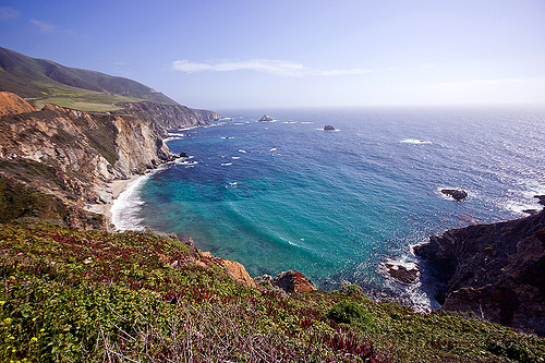 california coast near big sur, carmel, cliffs, horizon, monterrey, ocean, pacific ocean, rugged, sea, seashore, shore