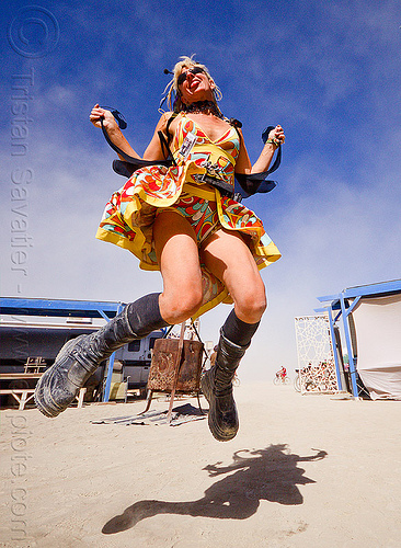 cameragirl - burning man 2012, cameragirl, heather, jump shot, woman
