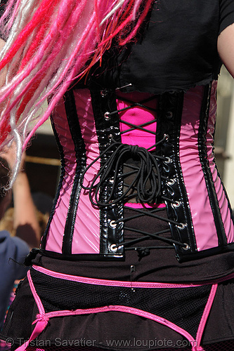 candy kid - gay pride (san francisco) - jendoll, black, clothing, corset, cyberkitty, dancing, dreadfalls, fashion, gay pride festival, jen, jendoll, jendoll_cyberkitty, kandi kid, kandi raver, pink hair, plur, raver outfits, sf gay pride, trance, waist, waistline, woman