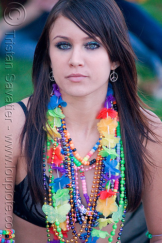 candy kid girl with necklaces, clothing, fashion, kandi kid, kandi raver, lovevolution, raver outfits, woman