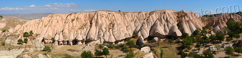 cappadocia - honey valley panorama (turkey), cappadocia, erosion, fairy chimneys, geology, goreme, göreme, honey valley, hoodoos, panorama, rock formations, rocks, stitched, uchisar, volcanic tuff, Üçhisar