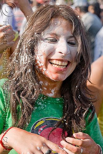 carnaval - carnival in jujuy capital (argentina), andean carnival, carnaval, foam, jael, jujuy capital, natalia, naty, noroeste argentino, san salvador de jujuy, talk powder, woman