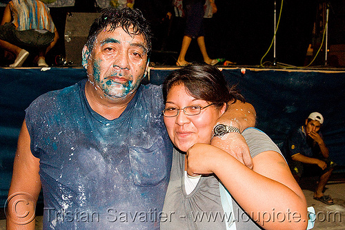 carnaval - carnival in jujuy capital (argentina), andean carnival, carnaval, couple, face painting, facepaint, jujuy capital, man, noroeste argentino, paint, san salvador de jujuy, talk powder, woman