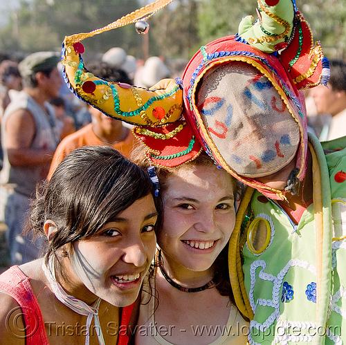 carnaval - carnival in jujuy capital (argentina), andean carnival, careta de diablo, costume, diablo carnavalero, diablo de carnaval, folklore, girls, horns, indigenous culture, jujuy capital, man, mask, noroeste argentino, quechua culture, san salvador de jujuy, tribal, women