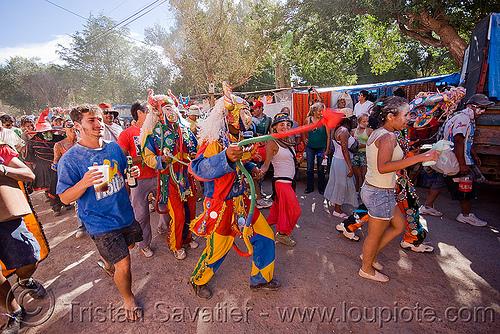 carnaval - tilcara (argentina), andean carnival, costume, crowd, diablo carnavalero, diablo de carnaval, folklore, horns, indigenous culture, mask, noroeste argentino, quebrada de humahuaca, tilcara, tribal