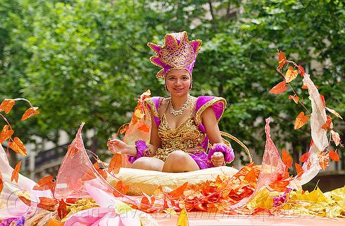carnaval tropical de paris, costume, festival, parade, people, woman