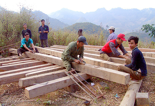 carpenters building a house - vietnam, carpenters, carpentry, construction  workers, home builders ...
