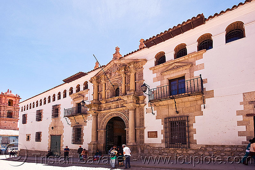 casa de la moneda - potosi (bolivia), casa de la moneda, casa nacional de moneda, exterior, facade, gate, mint, minting, potosí, street