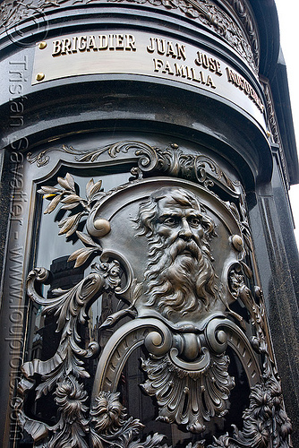 cast brass tomb door - recoleta cemetery (buenos aires), brigadier juan josé nogueira, buenos aires, door, grave, graveyard, recoleta cemetery, tomb