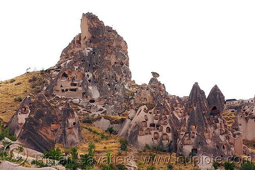 cave dwellings - Üçhisar castle - cappadocia, cappadocia, cave dwellings, caves, erosion, fairy chimneys, geology, goreme, göreme, hoodoos, rock cut, rock formations, rock houses, rocks, uchisar castle, volcanic tuff, Üçhisar, Üçhisar castle