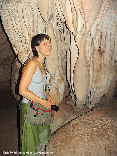 cave formations in natural cave - anke rega, anke rega, cave formations, caving, concretions, curtains, draperies, flowstone, karst, karstic, natural cave, speleothems, spelunking, woman, wonder cave, ประเทศไทย