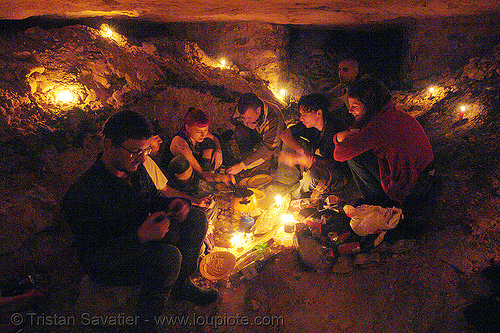 cavers - catacombes de paris - renegade party in the catacombs of paris (off-limit area), bhv, candles, cataphiles, cave, gallery, pamela, trespassing, tunnel, underground quarry