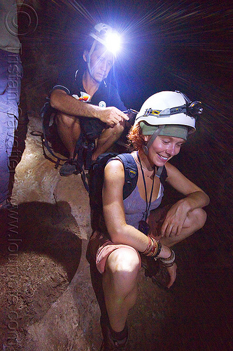 caving in mulu - racer cave (borneo), cavers, caving, guide, gunung mulu national park, headlamp, headlight, helmel, helmets, natural cave, racer cave, spelunkers, spelunking