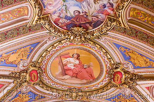 ceiling of the cathedral (Córdoba, argentina), argentina, cathedral, ceiling, church, cordoba capital, córdoba capital, frescoes, noroeste argentino, painting