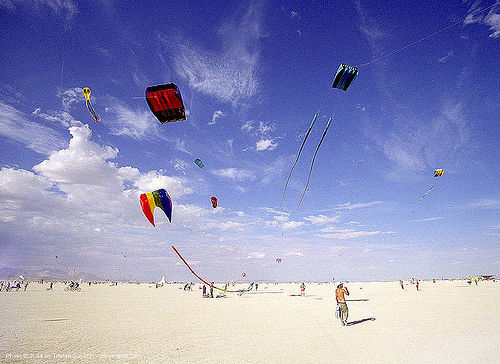 cerf-volants - burning-man, burning man, department of tethered aviation, flying, kites