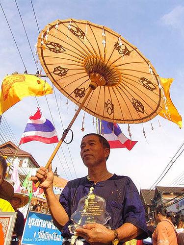 เชียงใหม่ - chiang mai - สงกรานต์ - songkran festival (thai new year) - thailand, chiang mai, man, songkran, thai new year, umbrella, water festival, ประเทศไทย, สงกรานต์, เชียงใหม่
