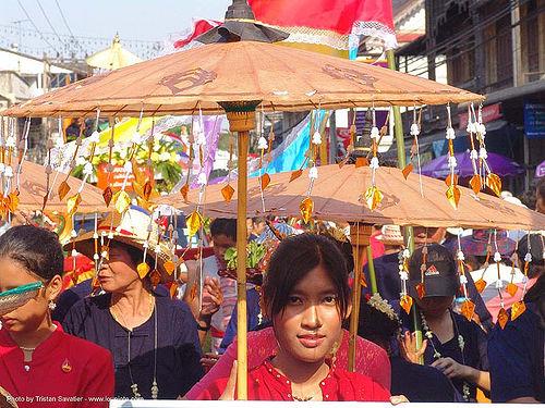 เชียงใหม่ - chiang mai - สงกรานต์ - songkran festival (thai new year) - thailand, people, umbrellas, water festival, ประเทศไทย, สงกรานต์, เชียงใหม่
