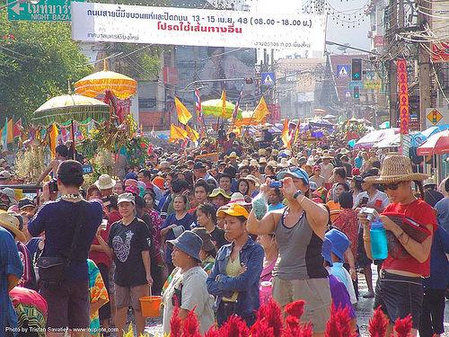 เชียงใหม่ - chiang mai - สงกรานต์ - songkran festival (thai new year) - thailand, chiang mai, crowd, songkran, street, thai new year, water festival, ประเทศไทย, สงกรานต์, เชียงใหม่