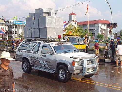 เชียงใหม่ - chiang mai - สงกรานต์ - songkran festival (thai new year) - thailand, car, chiang mai, loudspeakers, songkran, speakers, street, suv, thai new year, water festival, ประเทศไทย, สงกรานต์, เชียงใหม่
