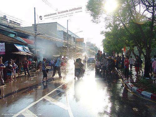 เชียงใหม่ - chiang mai - สงกรานต์ - songkran festival (thai new year) - thailand, chiang mai, soaked, songkran, street, thai new year, water festival, wet, ประเทศไทย, สงกรานต์, เชียงใหม่