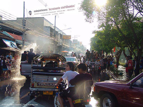 เชียงใหม่ - chiang mai - สงกรานต์ - songkran festival (thai new year) - thailand, soaked, water, water festival, wet, ประเทศไทย, สงกรานต์, เชียงใหม่