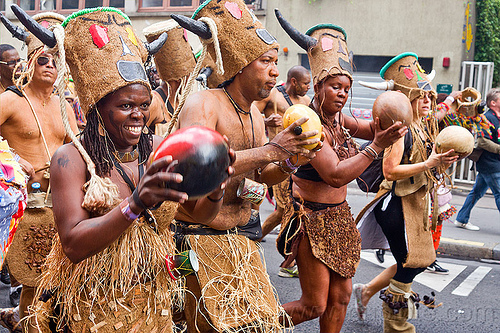 choukaj at the carnaval tropical de paris, caribbean, carnaval tropical, choukaj, costumes, creole, créole, guadeloupe, indigenous culture, man, parade, paris, traditional, tribal, west indies, woman