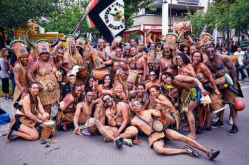choukaj at the carnaval tropical de paris, caribbean, carnaval tropical, carnival, choukaj, costumes, creole, crowd, créole, festival, guadeloupe, hat, horns, indigenous culture, parade, paris, traditional, tribal, west indies