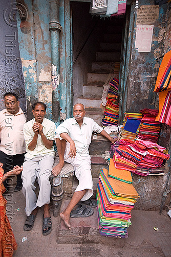 cloth store - bazar - delhi (india), bazar, cloth, clothing store, delhi, men, street market
