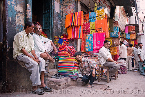cloth stores - street bazar - delhi (india), bazar, cloth, delhi, india, shop, stores