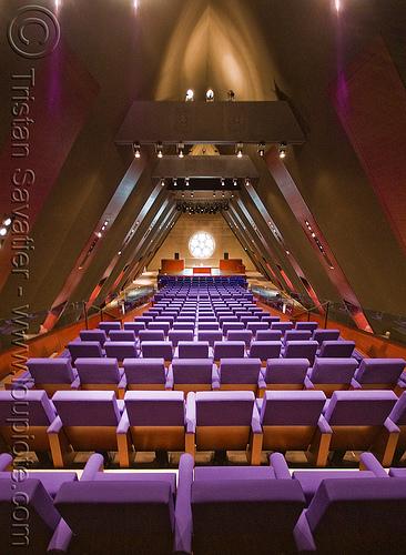collège des bernardins - auditorium - monastery (paris), architecture, auditorium, cistercian, collège des bernardins, modern, monastery, paris