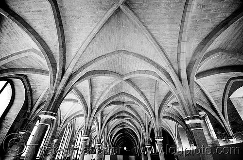 gothic architecture - collège des bernardins (paris), cistercian, collège des bernardins, medieval, monastery, stone vaults