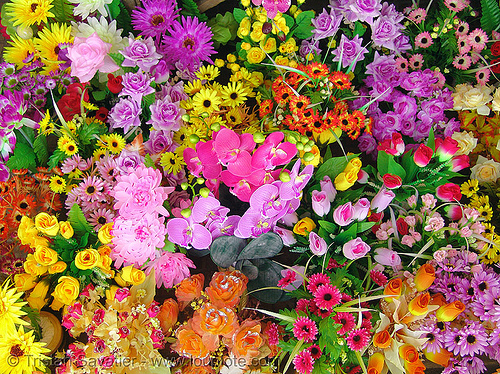 colorful artificial flowers, artificial flowers, colorful, fake flowers, hué, vietnam