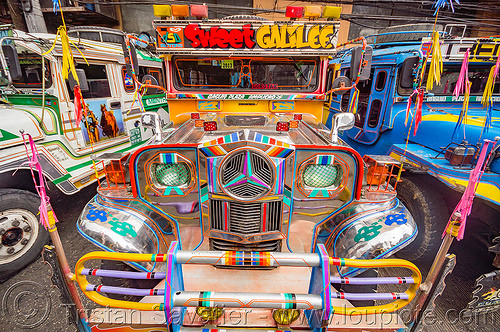 colorful jeepney - front (philippines), baguio, colorful, decorated, front grill, jeepney, painted, philippines, truck