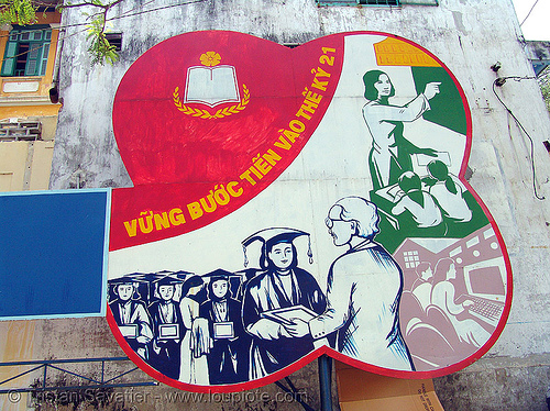 communist sign in hanoi - vietnam, communism, communist sign, hanoi, propaganda, vietnam