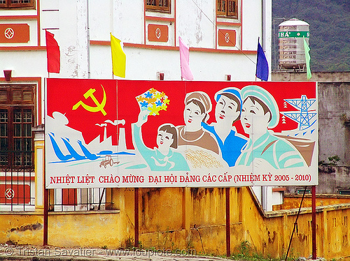 communist sign in Tám Sơn - vietnam, communist sign, quản bạ, tám sơn, vietnam