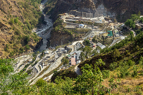 construction of the vishnu-prayag hydro project powerhouse (india), adit, alaknanda valley, construction, hydro-electric, india, power-house, tunnel, vishnu-prayag hydro project